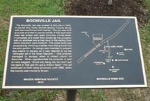 Projects - Boonville Jail Marker / Brazos Heritage Society historical projects - Boonville Jail Marker