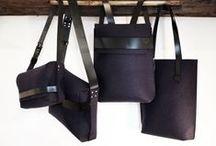 BLUE SURFACE / Felt bags by AGNESKOVACS