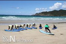 Surfing in New Zealand / New Zealand is surrounded by 15,000 Km's of ocean - a perfect place to do lots of surfing!