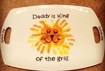 Father's Day crafts - Kids / DIY Father's Day gifts made by kids. Handprint crafts.