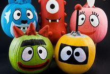 Halloween crafts - Kids / Halloween crafts and activities for kids, Halloween food and costumes for kids. Pumpkin, ghost, mummy, spider, black cat, witch crafts.