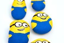 Painted rocks - Kids / DIY painted rocks and stones for kids. Easy crafts for children.