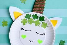 St Patrick's Day - Kids / Easy St Patrick's Day crafts for toddlers, preschoolers and older kids to make. Rainbow, leprechaun, shamrock crafts for home for classroom.