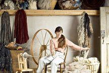 Spinning and handspun yarn