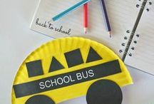 Back to School Crafts / Back to school crafts for kids: school bus and crayon crafts.