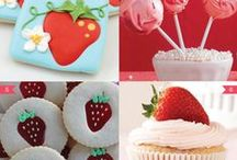 strawberry party / inspiration for a strawberry party / by Made by Cristina Marie