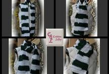 Cr8tive Lefty - Sports Team Scarves / These are my creations and they are an extension of my heart. There is something for everyone. Handmade in the U.S.A.  These items are $19.00 each + shipping. Shop at: http://www.cr8tivelefty.com/Cr8tive_Lefty/Currently_Available.html