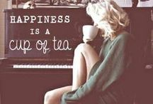 """tea or coffee☕️ / """"come let us have some tea or coffe and talk abouth happy things"""" / by Corrie Monster"""
