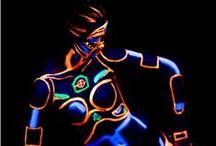 Fluorescent Body-Painting / @SiminaMariaMichile #BodyPainting #Fluorescent Photo: @Xmedia Studio Valentin Bucharest Mua: @IrinaPredaMakeup