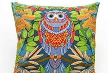 Owl throw pillow for home decoration / Owl throw pillow for home decoration , linen cushions 18 in .