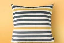 Striped throw pillow / Striped throw pillow for home decorative .
