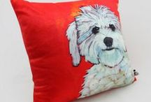 Dog pillow for home decoration / Dog pillow for home decoration, 18in Cushion .