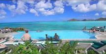 Cocobay Resort - Main / Cocobay is a colorful collection of pastel cottages crowning a breezy hillside undulating down to two white-sand beaches and miles of turquoise Caribbean Sea.