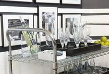 Bar styling / Bar carts, trays, glassware and other fun bar styling ideas