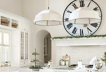 Kitchen  / Kitchen cabinetry, counters, storage, decor, lighting and seating / by Life in Velvet