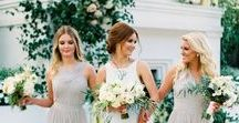 Bridesmaids / Looks for bridesmaid style, bridesmaid dresses, modern bridesmaid dresses, elegant bridesmaid dresses, and bridal party style