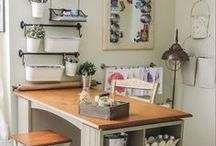 Craft and Sewing Room / Organizing and decorating ideas for my craft and sewing room