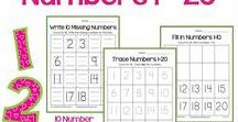Number Worksheets / A great offering of worksheets created for kindergarten aged kids to help them count up to 20 using various objects.