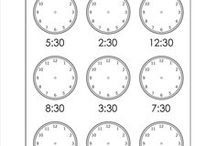 Telling Time / All kinds of worksheets for telling time!