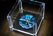 BLUE! Acrylic Interiors furniture / Acrylic furniture interiors and design. Color: BLUE