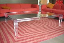 RED! Acrylic interiors furniture / Acrylic furniture interiors and design. Color: RED