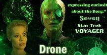 Drone / STAR TREK VOYAGER - Drone Desktop Wallpapers 1360 x 768
