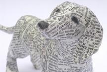 papier mache dieren / by Heidi Cox