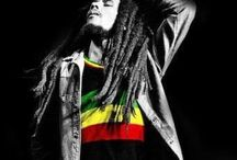Bob Marley and Celebrities / Our beloved Bob Marley and renown celebrities.