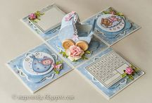 Birth cards for girl and boy