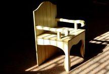 Bench seat and Chairs / Bench seat and Chairs design and realization Mazzocca  Wood Design Lab