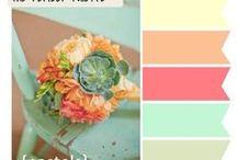 mariage mint peach / by di