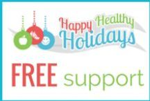 ** Happy Healthy Holidays ** / Halloween, Thanksgiving, Hanukkah, Christmas, and New Year's Eve can all wreak havoc on your health and happiness! Happy Healthy Holidays is an online support program designed to keep you sane, healthy and happy during this busy time of year.    Join our 6-week program any time you want! http:/bit.ly/ETW-holidays
