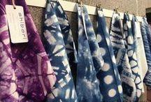 tracy fox: Shibori / unique hand dyed shibori designs created on cloth by tracy fox