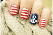 Nail Art / Easy, cute, simple, pretty ideas. TIP: If you need to draw thin lines, use a toothpick.