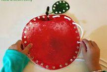 Aktivity na téma JABLKO / Montessori a jiné tvořivé aktivity na doma s dětmi.