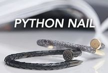 Chevalier Python Nail Collection / Genuine python leather and top quality plating - Luxury jewels for uncommon people. Style it with Chevalier!