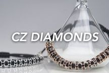 Chevalier CZ Diamonds Collection / Cubic zirconia diamonds, macramé and top quality plating in gold, white gold and ruthenium. Classy and unique; be exclusive, get your Chevalier!