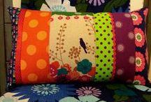Quilting patchwork pillows