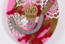 Crochet art wall hangings