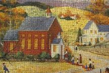 Puzzles at the Library / Here are all the puzzles that our patrons work on while they are in the library! / by Albert Wisner Public Library