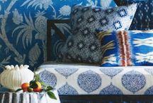White&Blue home / White and blue decor, interior design