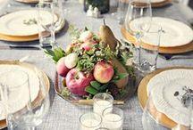свадьба / столы и оформление