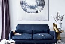 In the Navy / A home design moodboard for the darkest of blues.