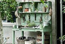 Vintage Garden } Styling / Design and garden styling ideas