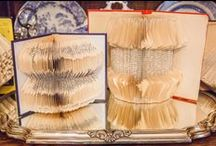 Book Art/Folding / Learn how to fold book pages and get inspired by amazing book art!