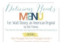 Book Menues / Have a book club and need ideas for a menu for the meeting. Check out these menus.
