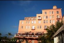 "La Valencia Hotel / ""The Pink Lady"" is on the Pacific Ocean in beautiful La Jolla California. We love the character and waterfront views of this historic hotel!"