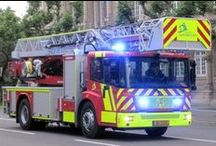 Fire Vehicles ( New & Old ) and crews. / Various Fire Engines of different nations.