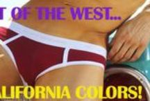 CALIFORNIA COLORS BY GO SOFTWEAR! / Straight out of Southern California were sun, sand and surf combine to create a unique lifestyle; the California Colors collection is born! Each body in this group is designed to enhance the male physique in vivid colors that capture the essence and magic of California living. It is our wish that you will be part of the magic! / by GO SOFTWEAR/AMERICAN JOCK CLOTHING