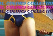 GO SOFTWEAR CAL. COLORS COLLECTION! / Straight out of Southern California were sun, sand and surf combine to create a unique lifestyle; the California Colors collection is born! Each body in this group is designed to enhance the male physique in vivid colors that capture the essence and magic of California living. It is our wish that you will be part of the magic! / by GO SOFTWEAR CLOTHING
